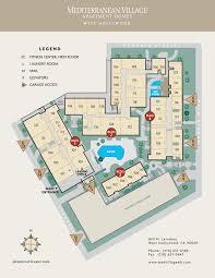 Park West Floor Plan by Rent In West Hollywood Mediterranean Village West Hollywood