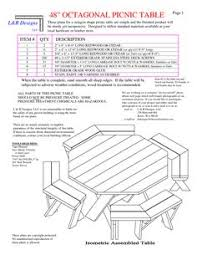 Free Plans Round Wood Picnic Table by Building Your Own Octagon Picnic Table Plans Free Diy Furniture