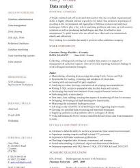 data analyst resume data analyst cv sle experience of data analysis and data data