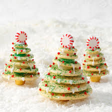 Christmas Tree Frosting Stacked Christmas Tree Cookies Recipe Taste Of Home