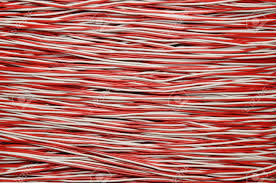 Electric Cable Red And White Copper Cable Electric Wire Stock Photo Picture And
