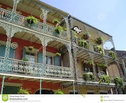 french quarter wrought iron balcony stock photo image 4825400