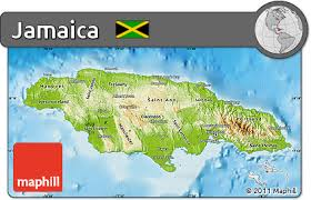 jamaica physical map free physical map of jamaica