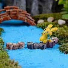 1pcs miniature multicolour tree stump micro landscape decor crafts