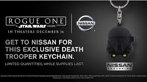 nissan midnight edition commercial mom nissan rides star wars merch train offers rogue one keychains