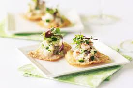 crab canapes crab and cucumber canapes