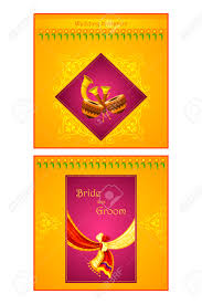 Marriage Invitation Card Vector Illustration Of Indian Wedding Invitation Card Royalty Free
