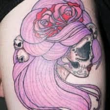 pink sugar skull tattoo tattoos pinterest sugar skull