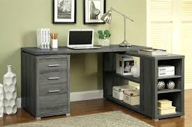 grey desk with drawers grey l shaped desk coaster l shaped computer desk in dark gray grey