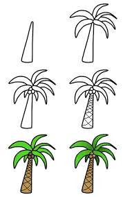 how to draw palm trees step 3 doodles pinterest palm