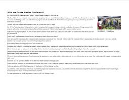 native plants extension master gardener master gardeners in the news cameron county master gardener