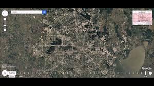 Map Houston Tx Houston Texas Urban Sprawl Time Lapse Youtube