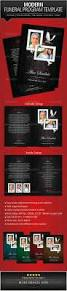 Templates For Funeral Program Modern Funeral Program Brochure Template By Designs4u Graphicriver