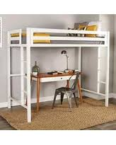 great deal on we furniture premium twin metal loft bed white
