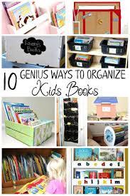 10 genius ways to organize kids books book storage wall storage