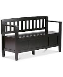Black Entryway Bench Entryway Furniture Macy U0027s