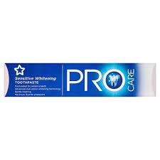 toothpaste whitening superdrug pro care sensitive whitening toothpaste superdrug