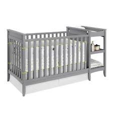 Changing Table Crib Baby Relax 2 In 1 Crib And Changing Table Combo Gray One