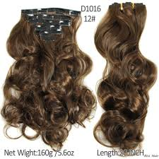 Long Synthetic Hair Extensions by 16 Clips 7pcs Set 20inch 160g Long Straight Synthetic Hair