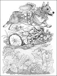 corgi fairy steed fairies coloring book