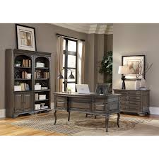 Double Pedestal Desk With Hutch by 60