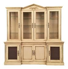 vintage u0026 used white china and display cabinets chairish