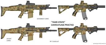 tiger stripe practice scar h and 300 blk m4 by caiobrazil on