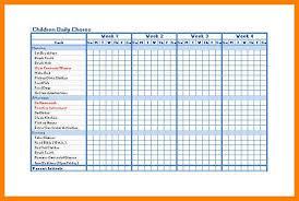 9 chore chart templates g unitrecors