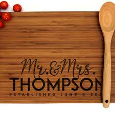 personalized cutting board wedding gift monogram cutting board home design and decorating