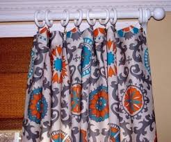 Burnt Orange Kitchen Curtains by Blue And Orange Curtains U2013 Teawing Co