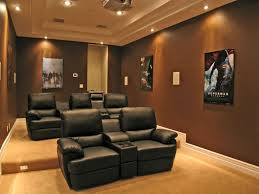 home theater couch home theater with tan seats and spotlights the suitable home
