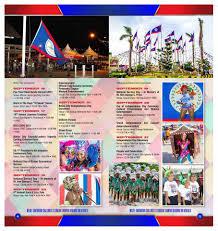 Belize Flag 2017 National September Celebrations Calendar Ambergris Caye