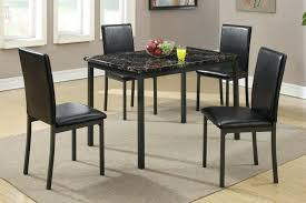 Metal And Leather Dining Chairs Dining Chairs Black Leather Dining Table And Chair Set Metal