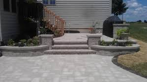split level patio patios bcp concrete split level small garden