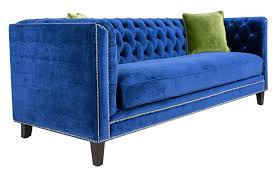 Green Velvet Tufted Sofa by Pasargad Victoria Collection Velvet Sofa Navy Blue With 2 Green