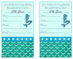 free printable mermaid birthday party invitations addnow info