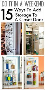 a closet 15 ways to use the back of a closet door for storage and