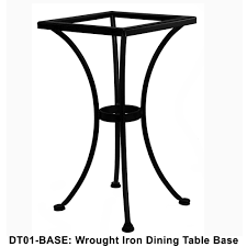 Wrought Iron Bistro Table Ow Standard Wrought Iron Counter Height Table Base Ct03 Base