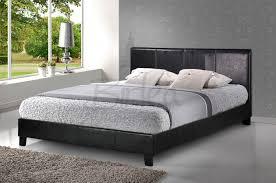 Faux Bed Frames Birlea Berlin 4ft Small Black Faux Leather Bed Frame By Birlea