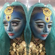 halloween airbrush makeup hindu goddess make up by grace oni smith make up artist hindu