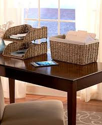 Cheap Desk Organizers Wicker Desktop Organizers The Lakeside Collection