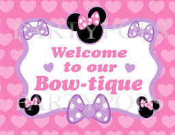 minnie s bowtique items similar to diy minnie mouse bow tique party sign printable