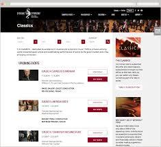 online class website a world class online experience for a world class symphony