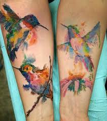 11 hummingbird watercolor tattoo