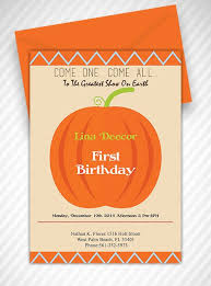 our little pumpkin first birthday invitation template free pdf
