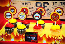 firefighter cupcake toppers fireman birthday fighter cupcake toppers station