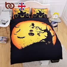 beddingoutlet halloween bedding set black and yellow duvet cover