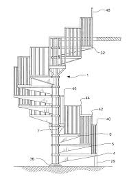 patent us20080236066 segmented spiral staircase and kit for its