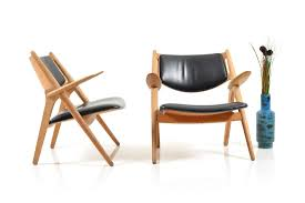 mid century ch 28 saw horse chairs by hans j wegner for carl