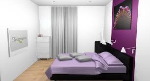chambre a coucher blanche et mauve